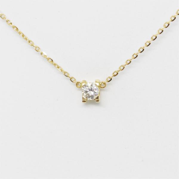 Colar Ouro com Diamante. Ref: SOL0601