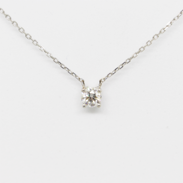 Colar Ouro com Diamante. Ref: SOL0602